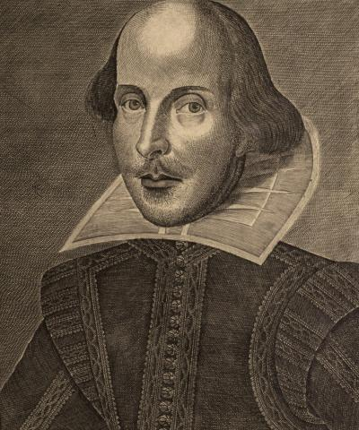 Print illustration of Shakespeare