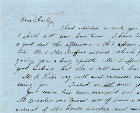 Letter written by McGuffey's mother