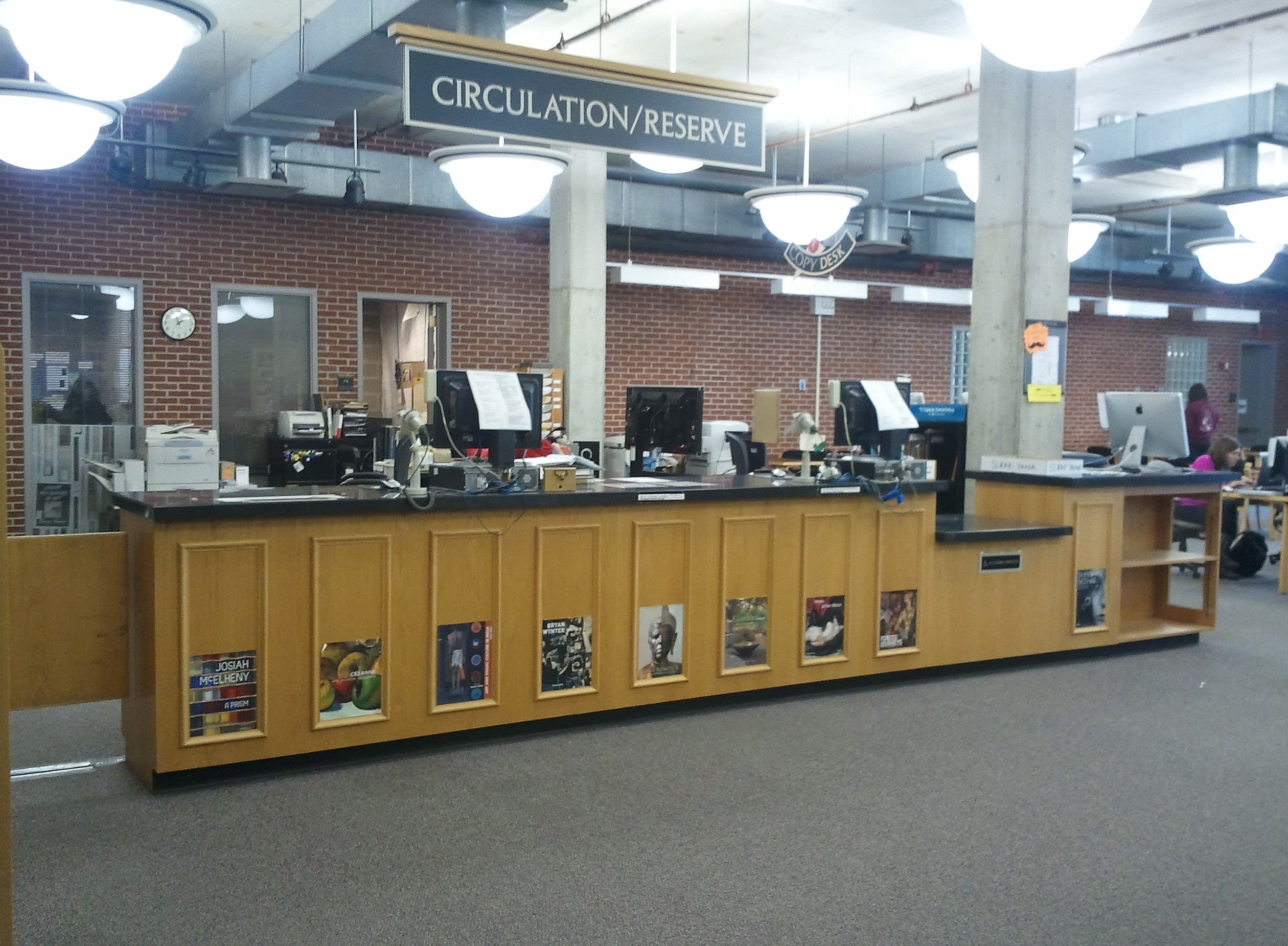 Wertz Art & Architecture library circulation desk photo